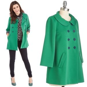 ModCloth Bea & Dot Beam Stock Trench Swing Coat